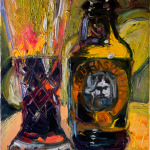 Old Rasputin Russian Imperial Stout in Waterford Crystal - 9 x 12 - Oil