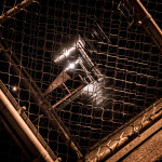 Chain Link at Midnight - 10 x 20 - Photographic Print on Metal