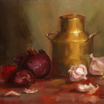 Red Onions - 11 x 9 - Oil