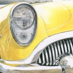 Yellow Car - 8 x 10 - Colored Pencil