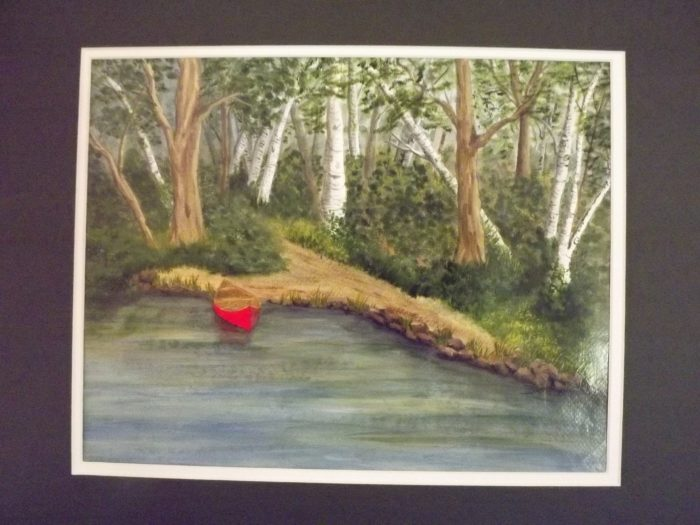 Red Canoe - 11 x 14 - Acrylic