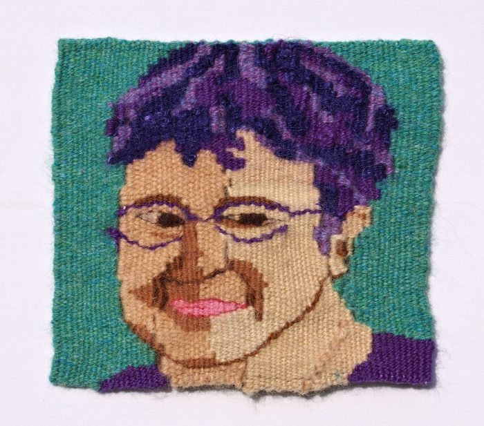 The Age of Purple (Althea Jordan) - 6 x 6 - Handwoven Tapestry
