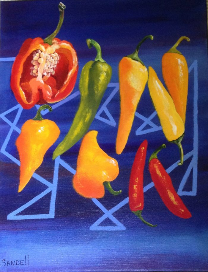 Peppers - 14 x 18 - Acrylic