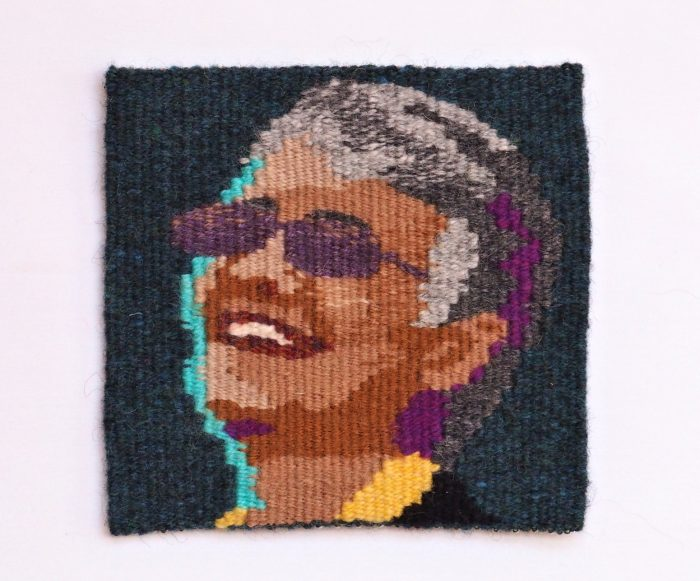 Happy in Spoleto (Jane Moore) - 6 x 6 - Handwoven Tapestry