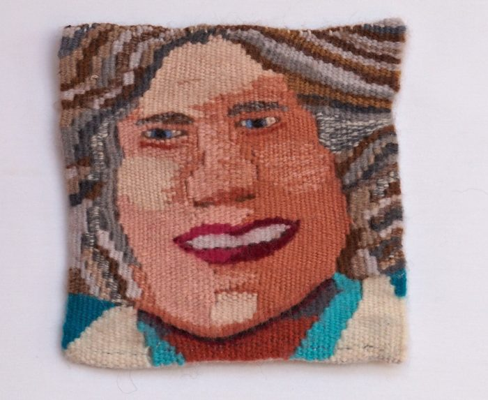 Twice Baked (Jean Riddering) - 6 x 6 - Handwoven Tapestry