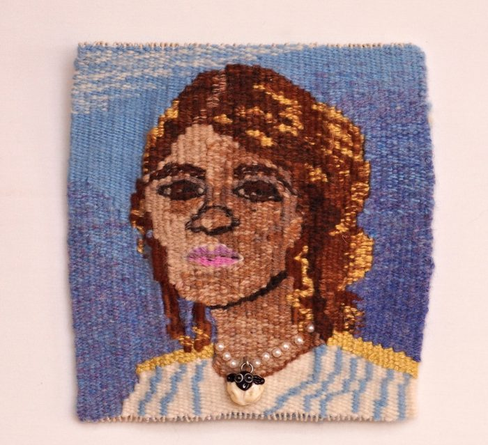 Alter Ego (Laurelen Jabbour) - 6 x 6 - Handwoven Tapestry