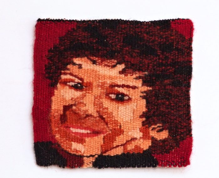 Yet Another Pat (Pat Price) - 6 x 6 - Handwoven Tapestry