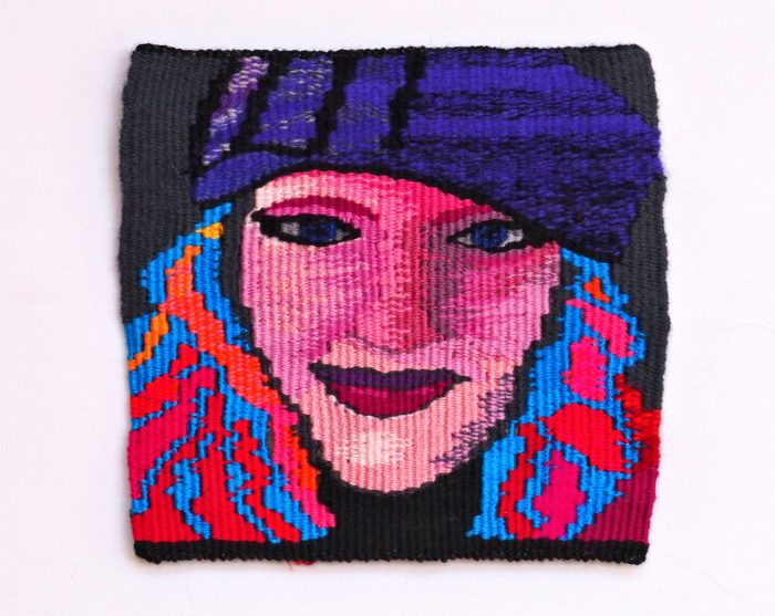 They Call Me the Color Queen (Sandy Kennard) - 6 x 6 - Handwoven Tapestry