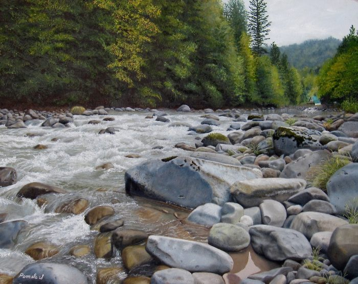 Fall on the Sandy River - 24 x 19 - Oil