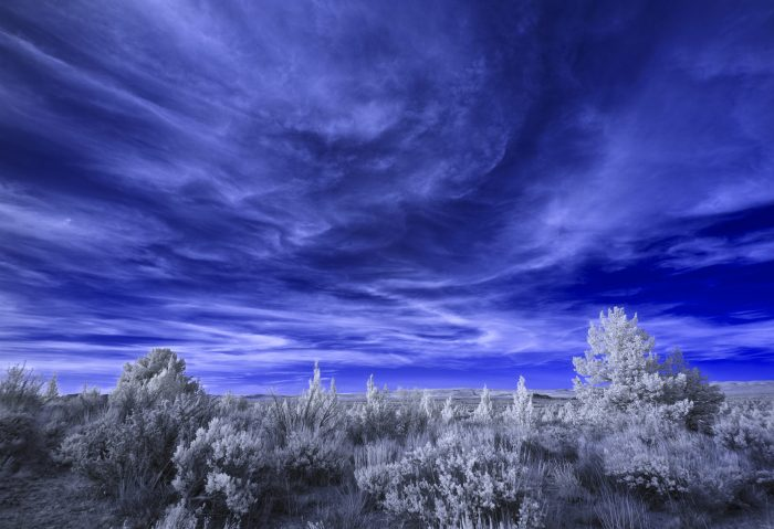 Desert at Dusk - 24 x 18 - Infra Red Photography