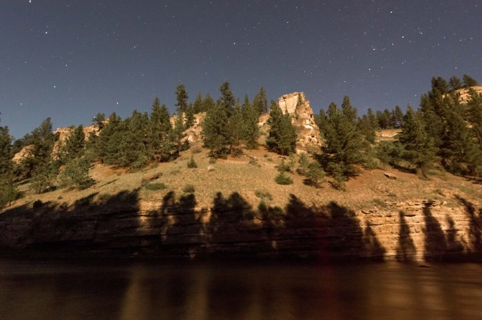 Moonlight Shadows Smith River Montana - 11 x 14 - Photography