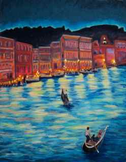 Venice Dreaming - 14 x 18 - Pastel