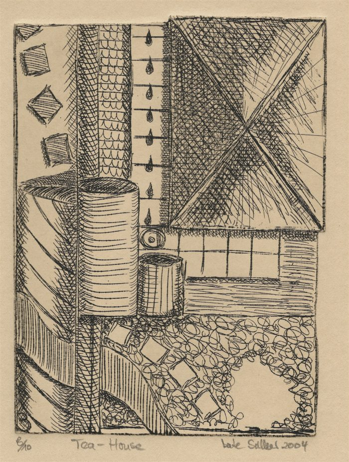 Tea House - 4.5 x 6 - Etching