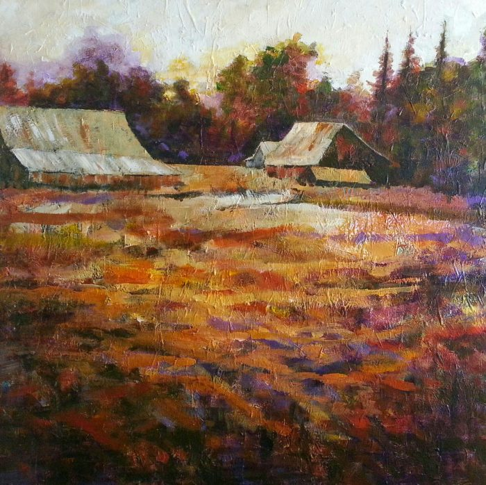 Evening in Evans Valley - 48 x 48 - Acrylic