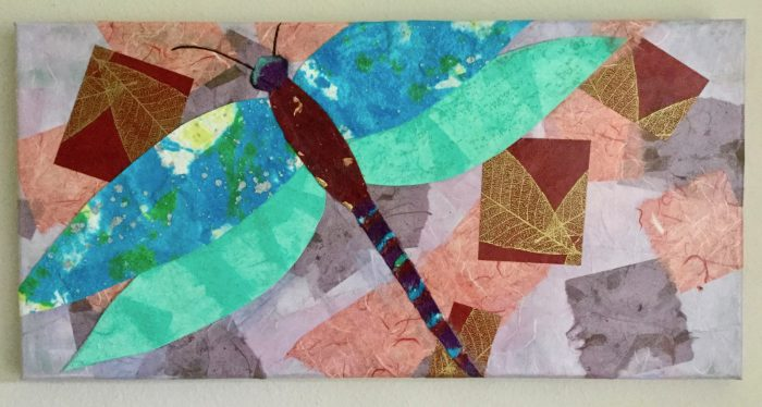 Dragonfly Construction - 20 x 10 - Collage