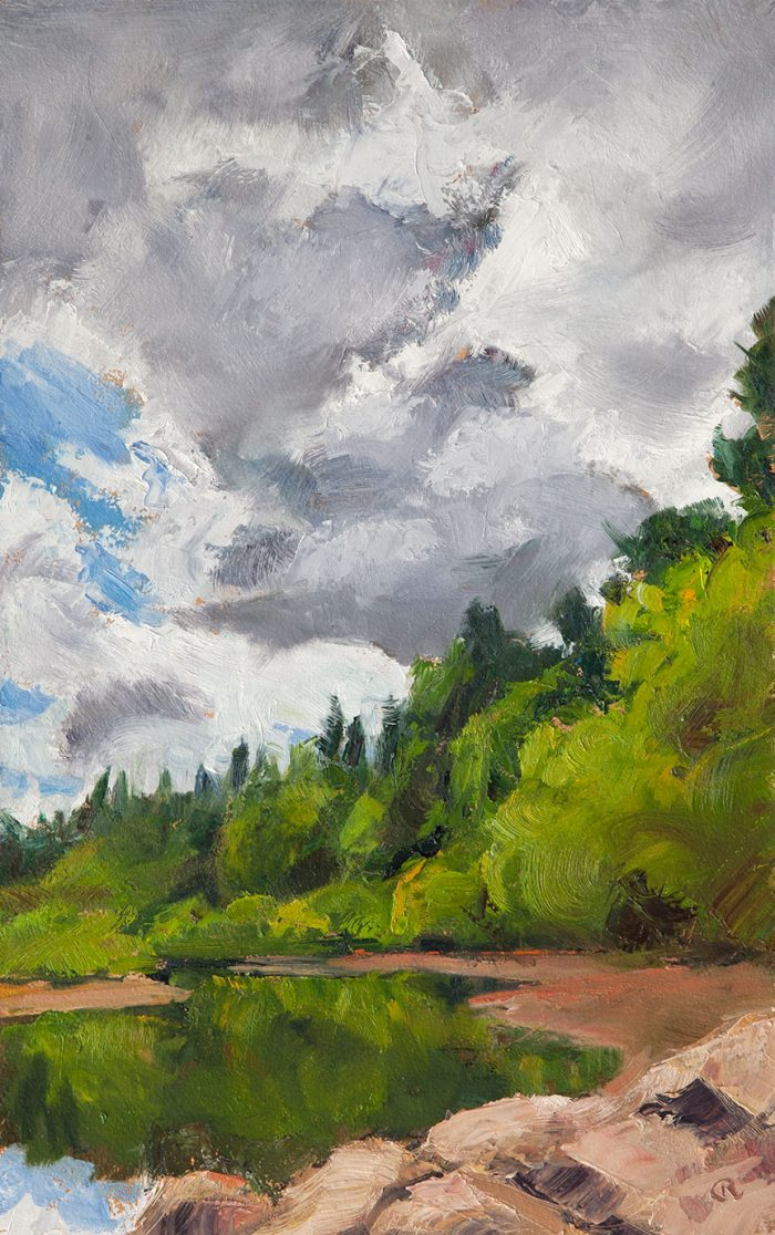 M. Young Clouds - 16 x 10 - Oil