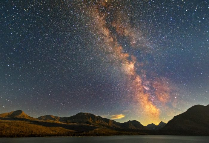 Milky Way Over St. Mary Lake - 24 x 18 - Photograph