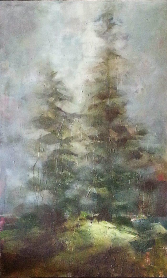 Morning Fog - 30 x 48 - Acrylic