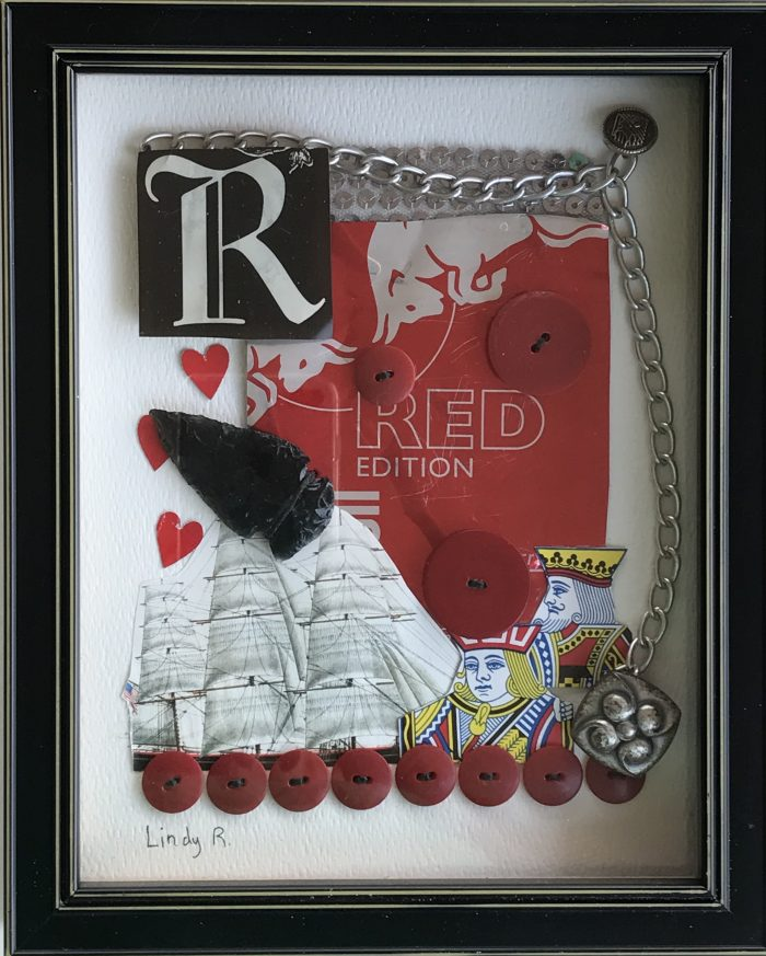 R is for our Red Son - 6 x 8 - Assemblage