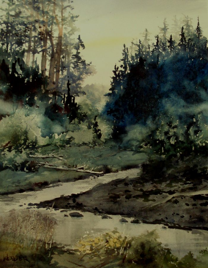 Near Downieville - 18 x 24 - Watercolor