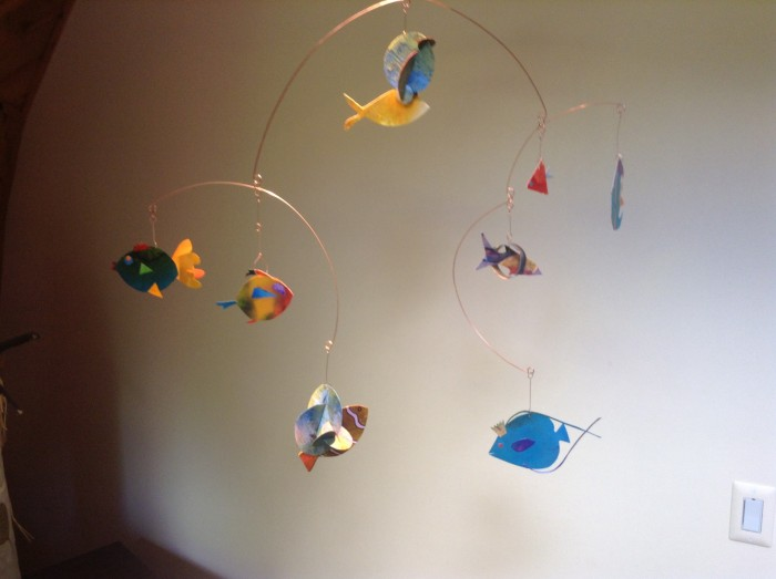 Flying Fish - 29 x 27 x 5 - Painted Paper, Copper