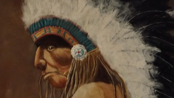 Chief Braveheart - 21 x 26 - Acrylic on Canvas
