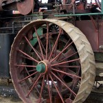 Vintage Steam Tractor Wheel - 13 x 14 - Photography