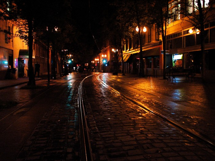 Cobblestones and Trolley Tracks - 40 x 30 - Photography