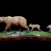 Crossing Bear Creek / Grizzly Bear - 22 x 8 x 10 - Wood Carving thumbnail