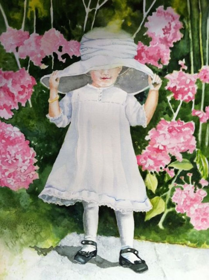 Dressing Up - 14 x 20 - Watercolor