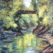 Oswego Creek and Bridge - 24 x 30 - Oil thumbnail