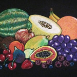 Nature Morte-Fruits - 16 x 20 - Chalk Ink