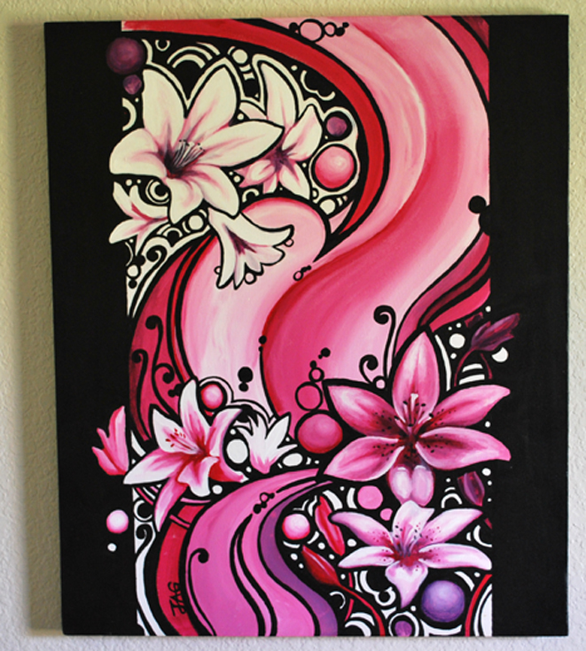 Pink my New Obsession - 20 x 24 - Acrylic
