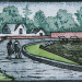 Sue Sutherland-Martin - Walking Home - 6 x 4 - Japanese Style Wood Block Print thumbnail