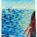 Surfer Dude Meets Kilauea - 24 x 30 - Handwoven Tapestry thumbnail