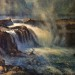 Willamette Falls from Dance Floor - 28 x 22 - Oil thumbnail