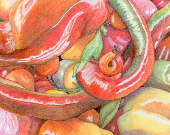 Pepper Stand - 8 x 10 - Colored Pencil