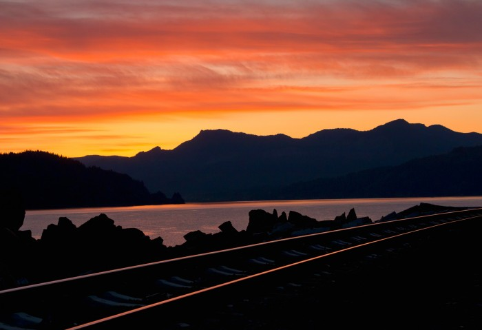 Rails Along The Columbia - 24 x 18 - Photography