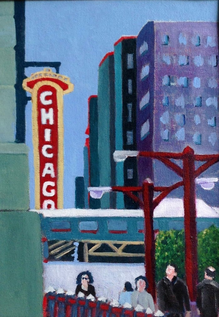 Chicago/Street Painting - 11 x 14 - Acrylic