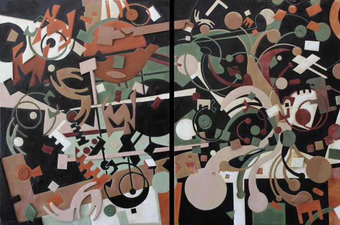 Tree of Life Diptych - 36 x 24 - Reduction Print