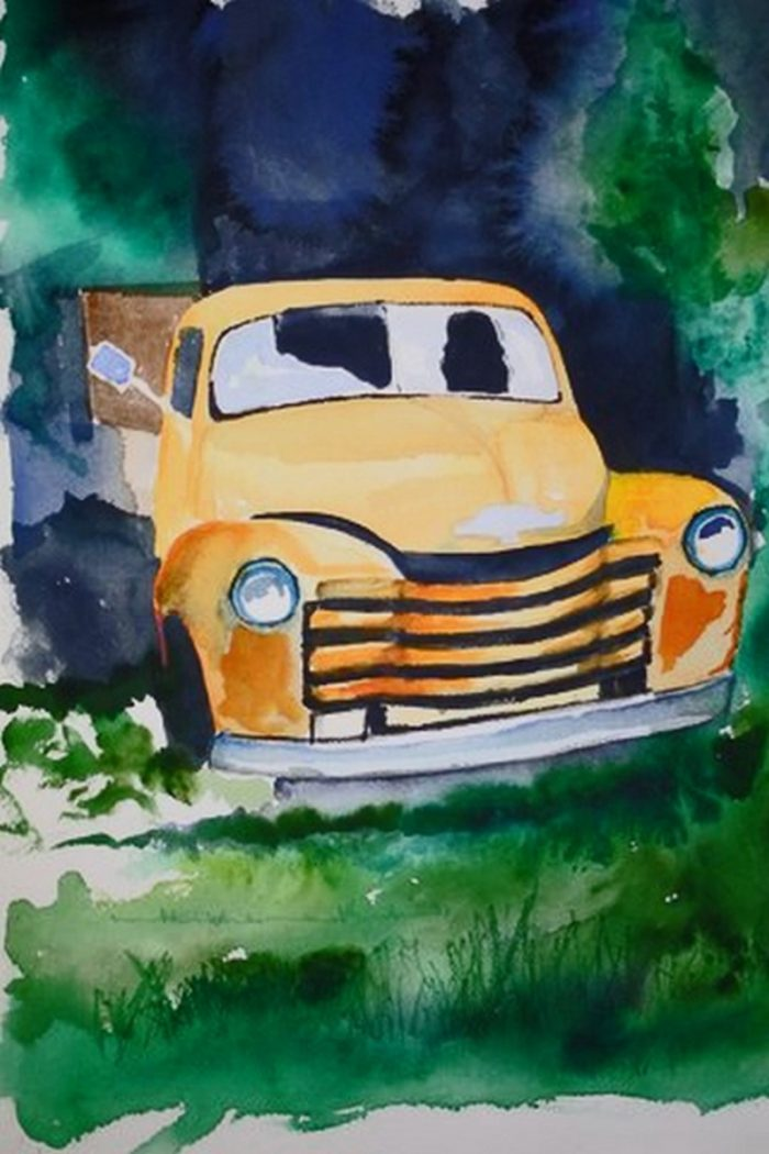 Rusty Chevy - 18 x 24 - Watercolor