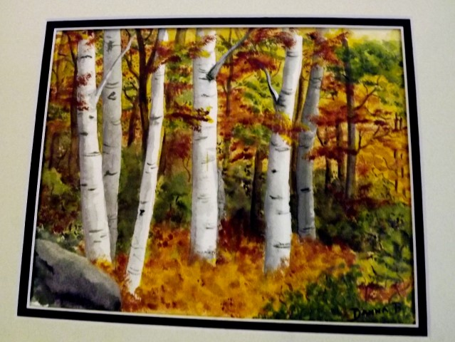 Fall Birches - 14 x 16 - Acrylic
