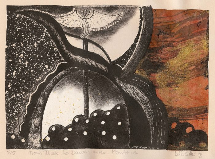 From Dawn to Dusk - 8 x 6 - Stone Lithography with Chine Colle