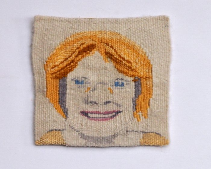 Pop Art Barb (Barbara Hitzemann) - 6 x 6 - Handwoven Tapestry