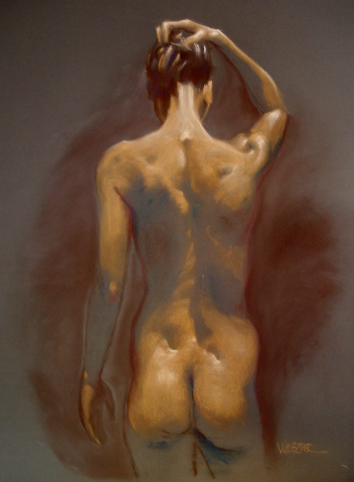 Untitled Figure Study - 15 x 24 - Pastel