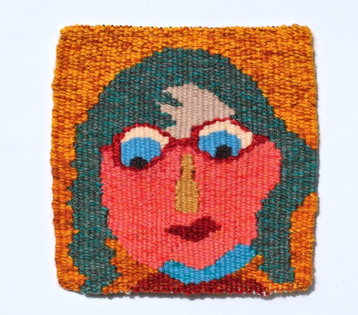 Sweet Mercles (Dianne Langtry) - 6 x 6 - Handwoven Tapestry