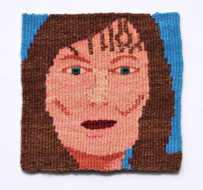Alone (Janet Dorow) - 6 x 6 - Handwoven Tapestry