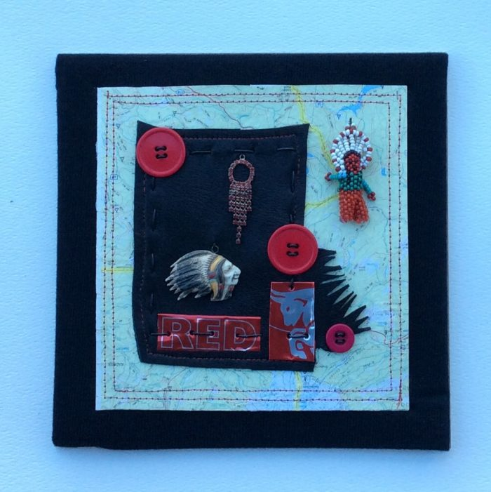 Red Chief - 8 x 8 - Assemblage