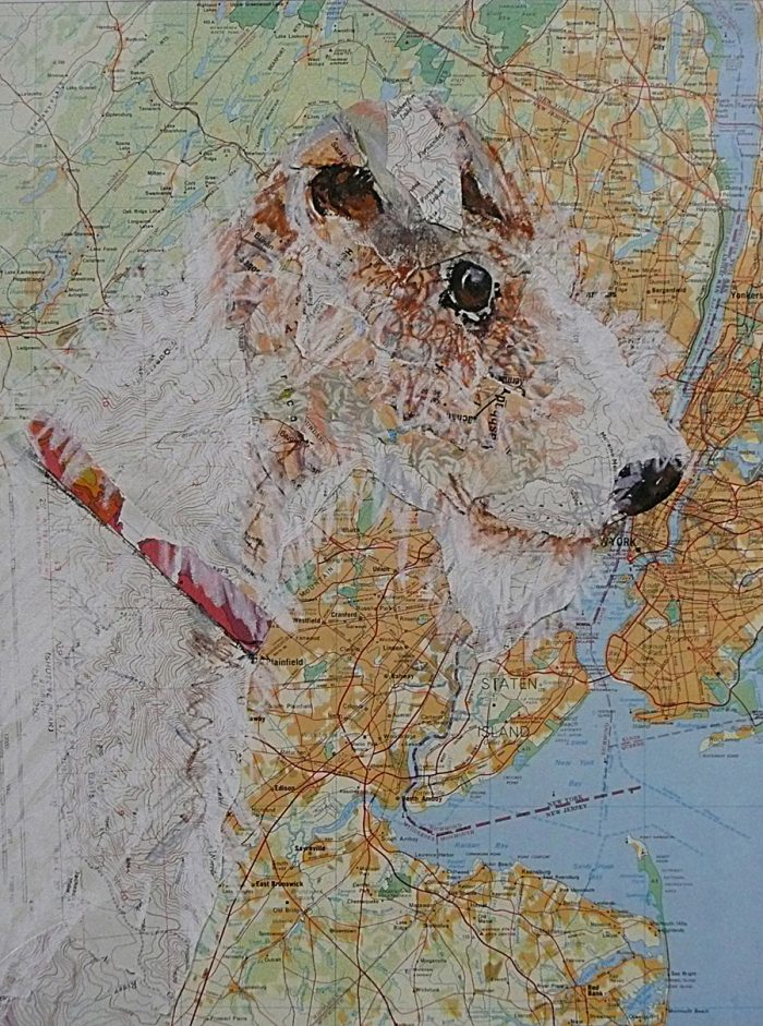 Lucy Visits the Big Apple - 14 x 17 - Mixed Media/Collage