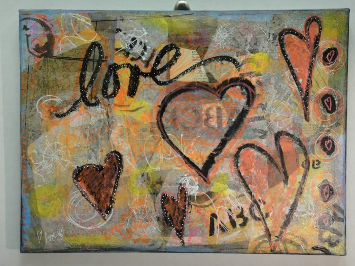 Love - 18 x 12 - Mixed Media